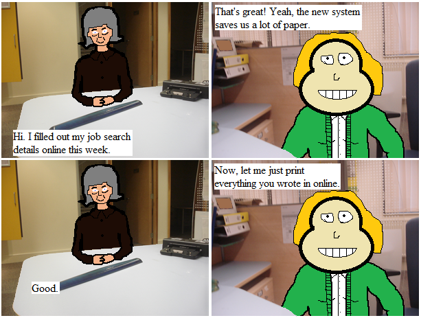 Beatrice Goes to the Job Centre 7